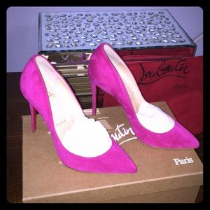Christian Louboutin Hot Pink Suede Pumps